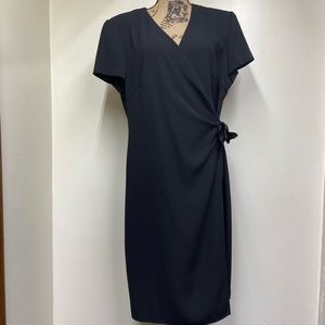 Vintage Plus Size Virgo Black Wrap Dress.
